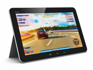 Tablet computer with video game