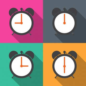 Set alarm clocks with different time from morning till dinner ve